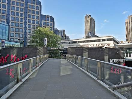 Aldersgate Pedestrian Bridge to Entrance