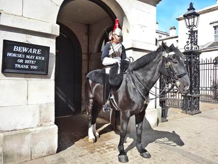 Berittene Wache bei Whitehall