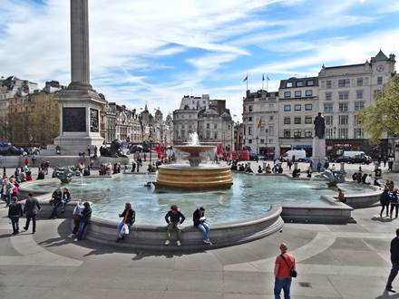 Brunnen am Trafalgar Square
