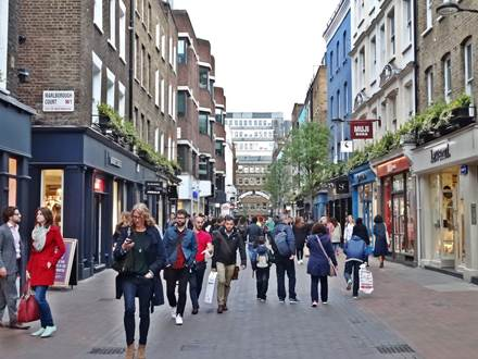 Carnaby Street towards Piccadilly Circus