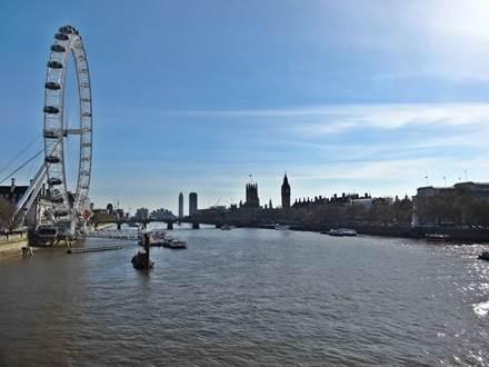 Aussicht von Golden Jubilee Bridge