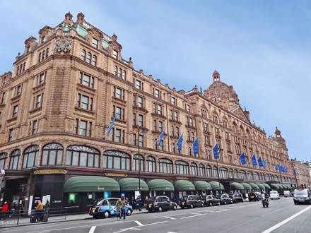 Harrods in London at Brompton Road