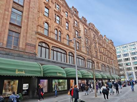 Harrods Facade along Hans Crescent
