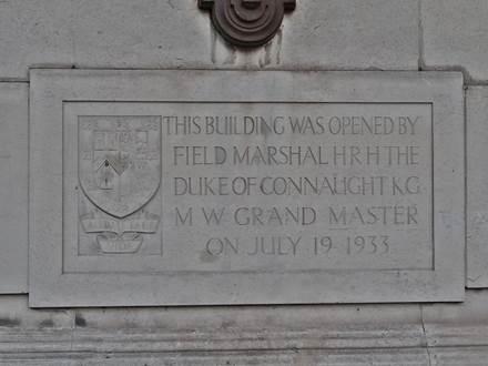 Inschrift bei Freemasons Hall