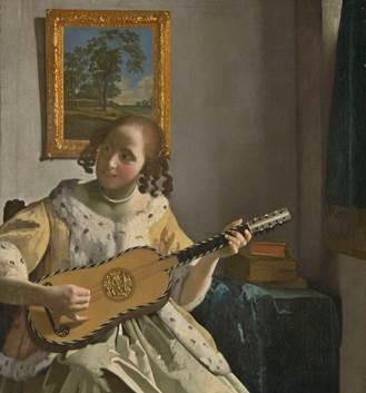 Die Gitarrenspielerin von Jan Vermeer