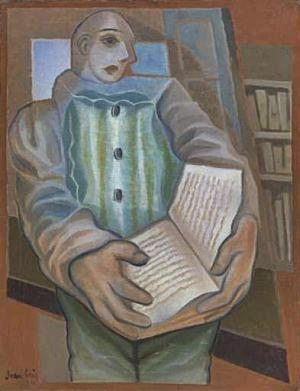 Pierrot with Book by Juan Gris