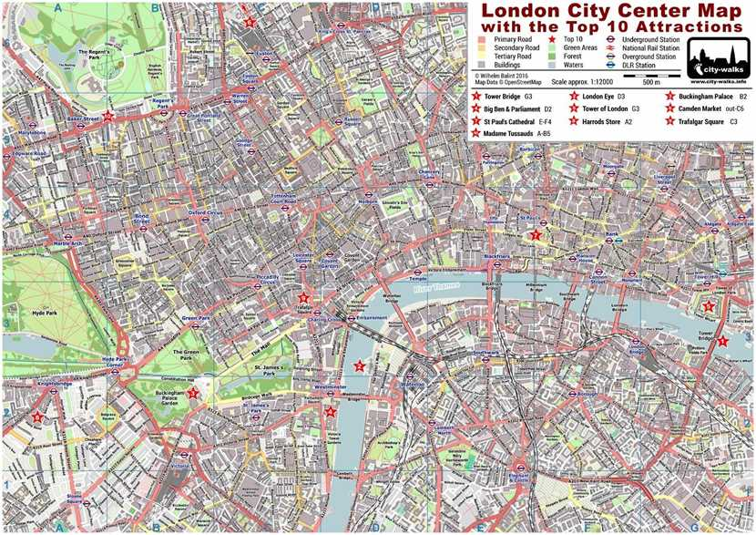 Map Over London.London City Center Street Map Free Pdf Download