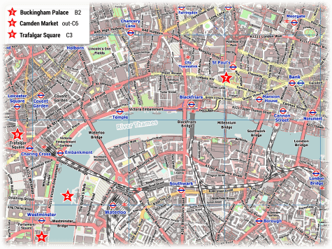 Printable Tourist Map Of London.London Pdf Maps With Attractions Tube Stations