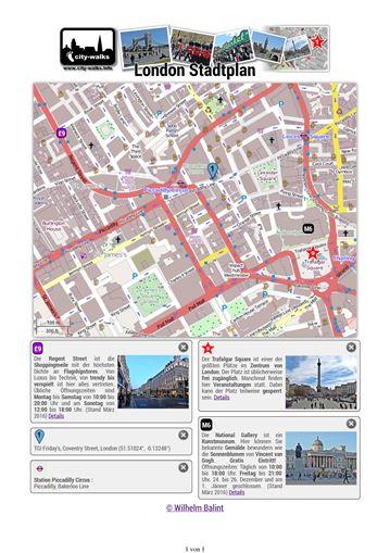 London Stadtplan Ausdruck