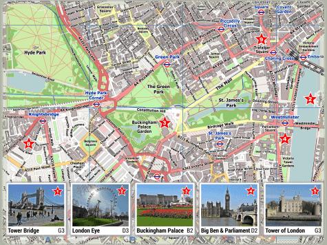London PDF Stadtplan Sehenswürdigkeiten