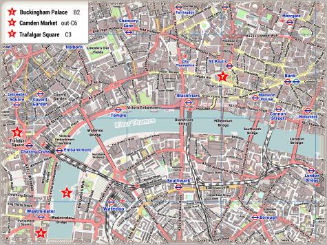 London Zentrum PDF Stadtplan
