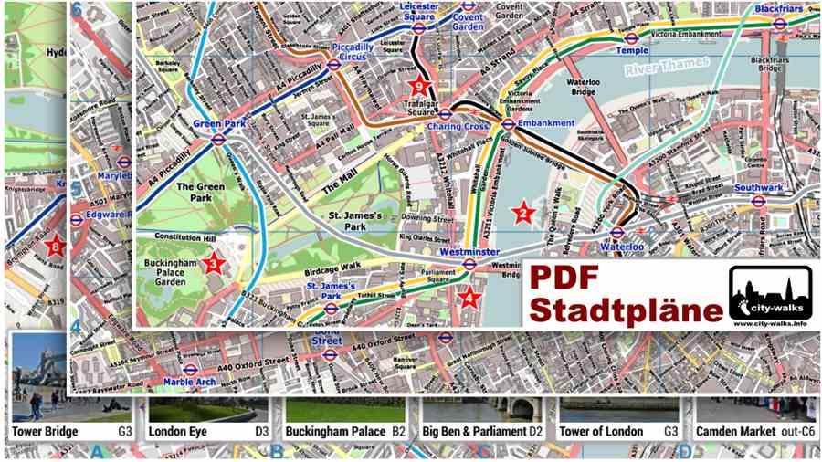 London PDF Stadtpläne