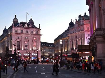 Regent Street at Piccadilly Circus