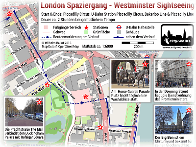 Westminster Sightseeing Spaziergang