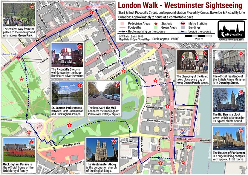 Westminster Sightseeing London Walk Free PDF Map – London Tourist Map Pdf