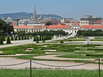 Aussicht vom Oberen Belvedere