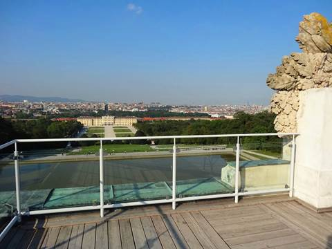 Gloriette view from rooftop