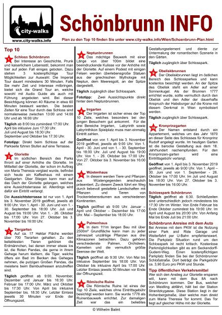 Schönbrunn Info Blatt